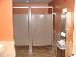 most public bathrooms in restaurants and stores have toilet stalls