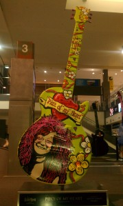 One of the many art guitars scattered around Austin, this is one of the first you see when you fly in, because it's right there in the airport.