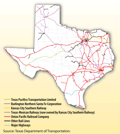 texas rail map